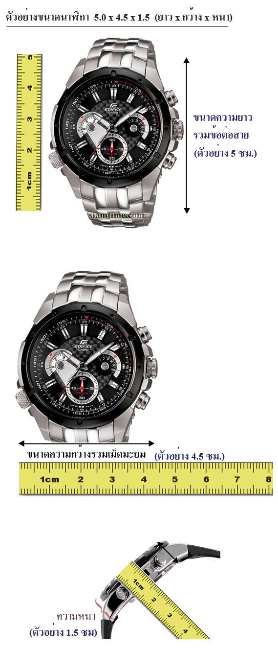 วิธีวัดขนาด นาฬิกาข้อมือ casio