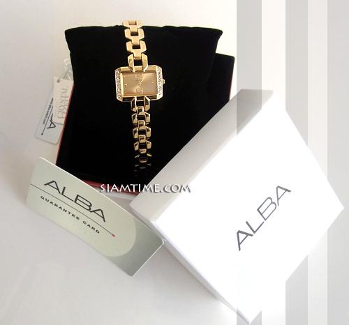 นาฬิกาผู้หญิง เรือนทอง ยี่ห้อ alba AC3Q54X