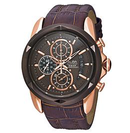 นาฬิกาสายหนังสีน้ำตาล  ยี่ห้อ อัลบา รุ่น AF8P18X