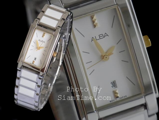 นาฬิกาข้อมือผู้หญิง ยี่ห้อ อัลบา รุ่น AH7155X