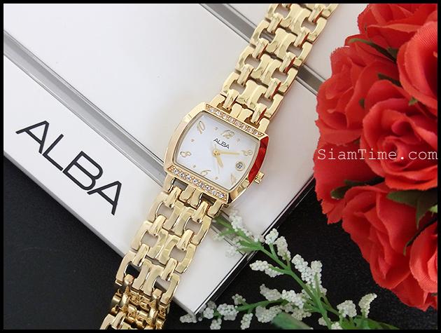 นาฬิกาข้อมือผู้หญิง ยี่ห้อ อัลบา รุ่น AH7166X