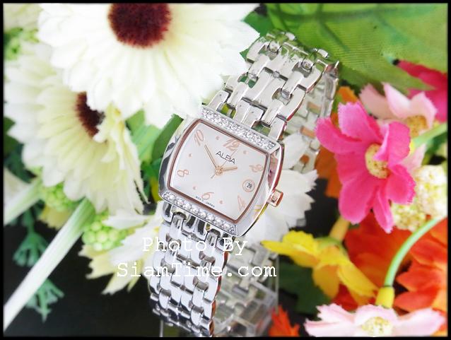 นาฬิกาข้อมือผู้หญิง ยี่ห้อ อัลบา รุ่น AH7167X