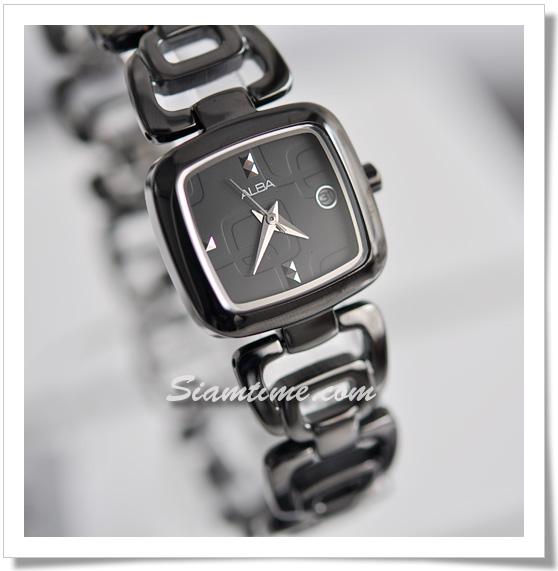 นาฬิกาสีดำ  ยี่ห้อ อัลบา รุ่น AXT729X