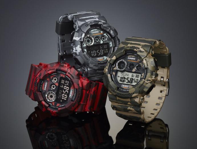 นาฬิกาข้อมือชาย ยี่ห้อ casio รุ่น GD-120CM-4DR