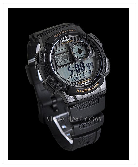 นาฬิกาข้อมือผู้ชาย สีดำ ยี่ห้อ casio รุ่น AE-1000W-1AVDF
