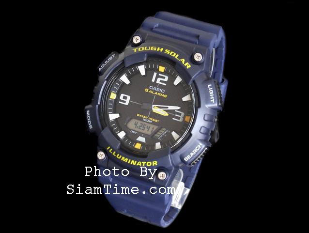 นาฬิกาข้อมือชาย ยี่ห้อ casio รุ่น AQ-S810W-2AVDF
