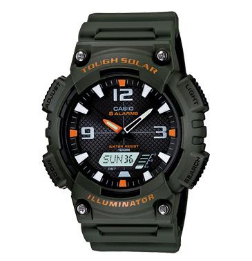 นาฬิกาข้อมือชาย ยี่ห้อ casio รุ่น AQ-S810W-3AVDF