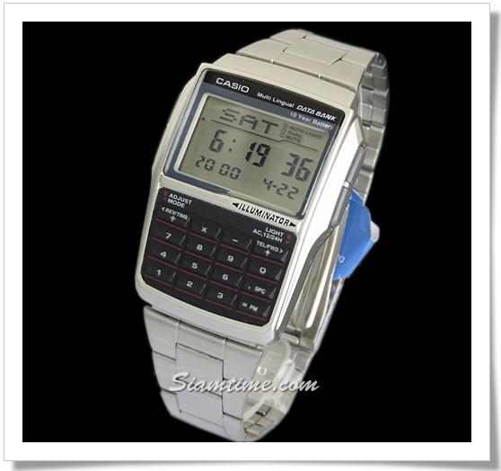 นาฬิกาเครื่องคิดเลข สีเงิน ยี่ห้อ Casio