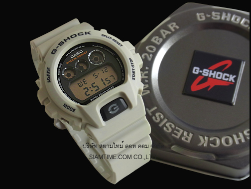 นาฬิกาบอกเวลา แบบดิจิตอล casio รุ่น DW-6900SD-8DR