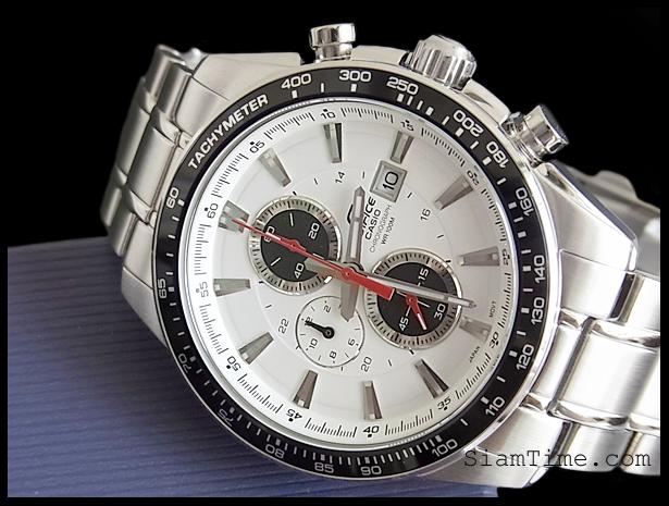 นาฬิกาสีขาว ผู้ชาย ยี่ห้อ คาสิโอ รุ่น  EF-547D-7A1VDF