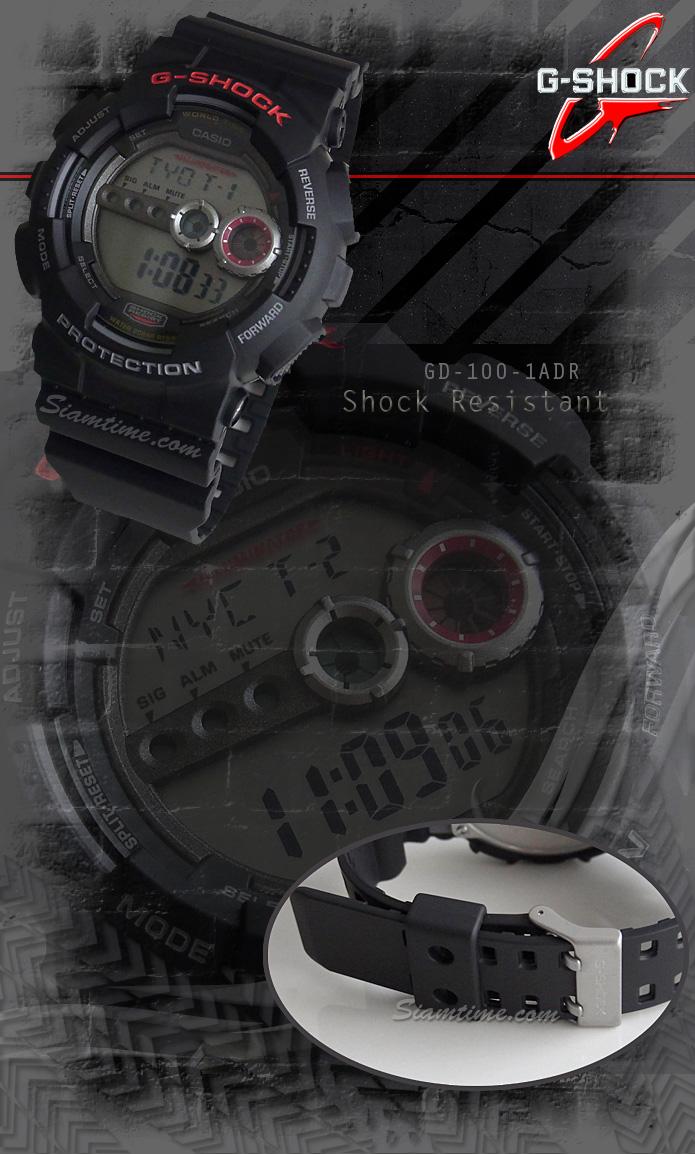 นาฬิกาข้อมือชาย ยี่ห้อ casio รุ่น GD-100-1ADR