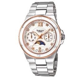 นาฬิกาข้อมือผู้หญิง ยี่ห้อ casio รุ่น SHE-3500SG-7ADR