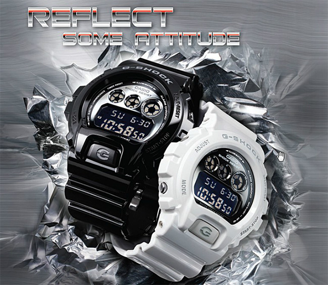 นาฬิกาวัยรุ่น ยี่ห้อ Casio รุ่น DW-6900NB-1DR