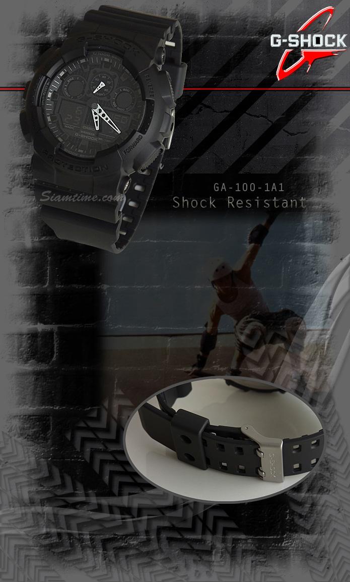 นาฬิกาออกใหม่ casio รุ่น GA-100-1A1DR