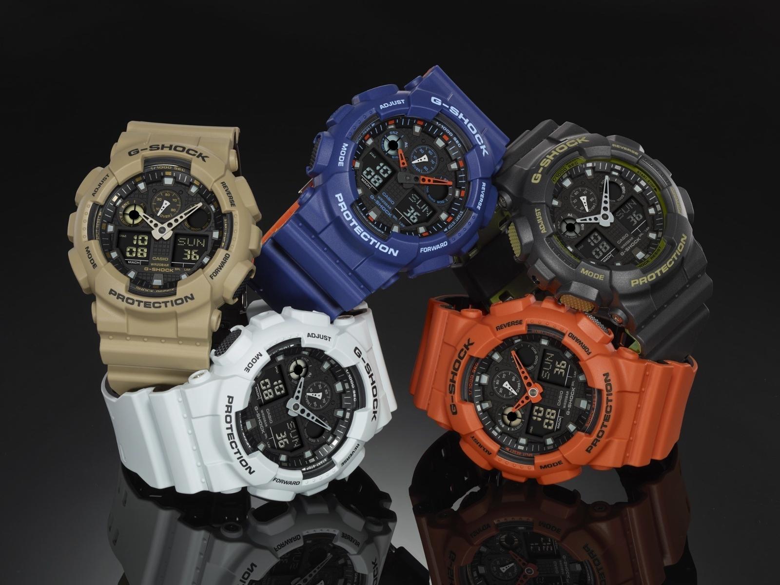นาฬิกาออกใหม่ casio รุ่น GA-100L-8ADR
