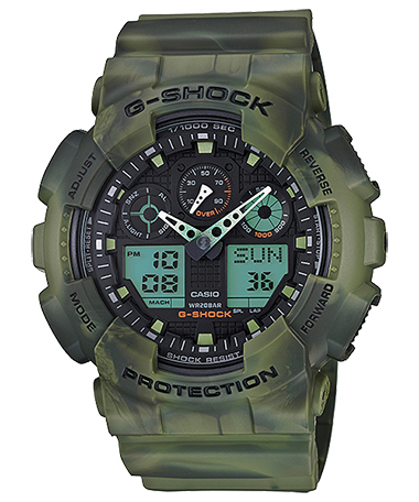 นาฬิกาข้อมือชาย casio รุ่น GA-100MM-3ADR