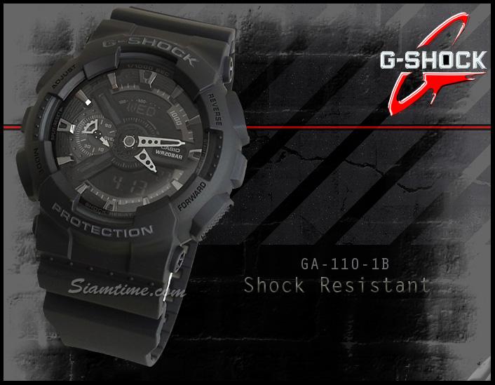 นาฬิกา ยี่ห้อ คาสิโอ รุ่น  GA-110-1BDR
