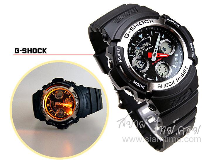 นาฬิกา G-Shock นาฬิกาสปอร์ต สไตล์นักกีฬา รุ่น AW-590